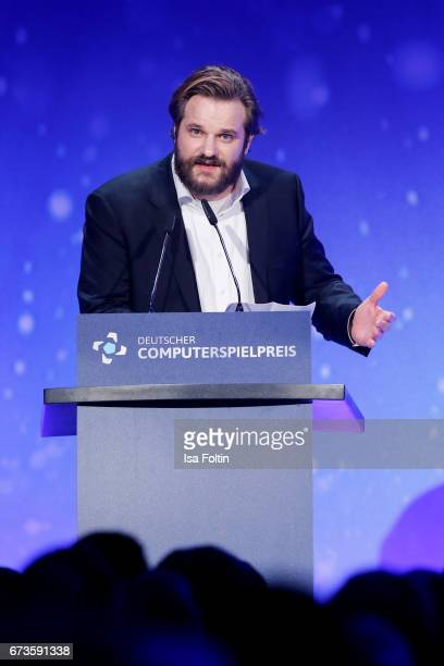 Erik Range alias Gronkh during the German Computer Games Award 2017 at WECC on April 26 2017 in Berlin Germany