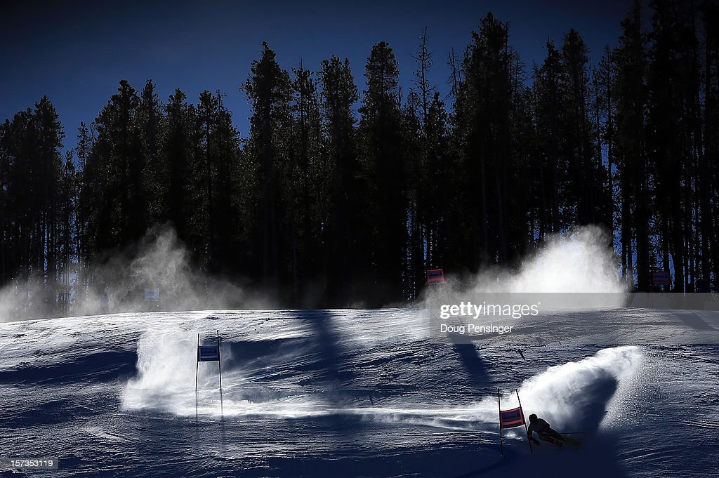 Erik Read of Canada descends the course during the first run of the men's Giant Slalom at the Audi FIS World Cup on December 2, 2012 in Beaver Creek, Colorado.