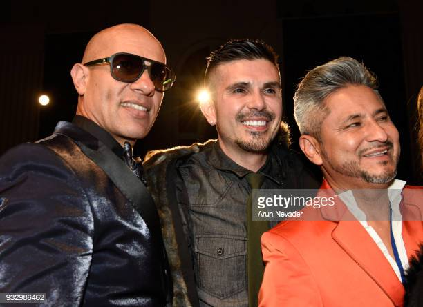 Erik Rosete attends Los Angeles Fashion Week Powered by Art Hearts Fashion LAFW FW/18 10th Season Anniversary Backstage and Front Row Day 5 at The...