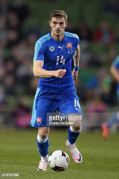 Erik Sabo of Slovakia during the international friendly match between the Republic of Ireland and Slovakia at Aviva Stadium on March 29 2016 in...