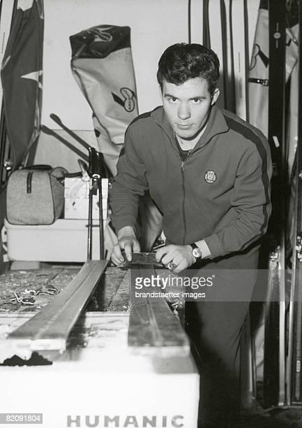 Erik Schinegger austrian ski racer Photograph Around 1965 [Erik Schinegger sterreichischer Skilufer Photographie Um 1965]