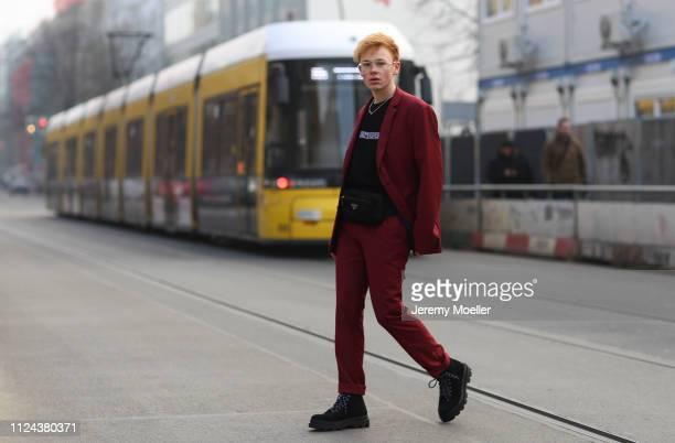 6bc2889b2e18 Erik Scholz wearing an Ambush chain Prada belt bag and Daily Paper shirt on  January 23