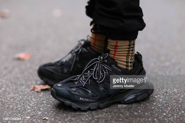 c9d9c650fbae Erik Scholz wearing Balenciaga track shoes and Burberry socks on October 28  2018 in Berlin Germany