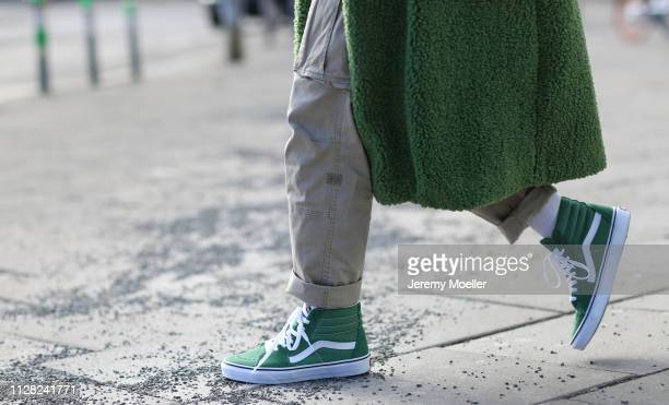 Erik Scholz wearing Zara coat Gstar cargo pants Vans shoes on February 08 2019 in Berlin Germany