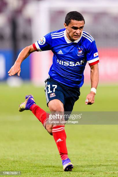 Erik Siqueira of Yokohama Marinos runs in the field during the AFC Champions League Round of 16 match between Yokohama F.Marinos and Suwon Samsung...