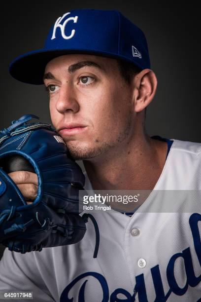 Erik Skoglund of the Kansas City Royals poses for a portrait at the Surprise Sports Complex on February 20 2017 in Surprise Arizona