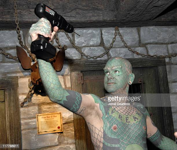 Erik Sprague The Lizard Man during Ripley's Believe It or Not Times Square Odditorium Opening Party at Ripley's Times Square in New York City New...