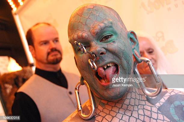 Erik Sprague The Lizardman during Ripley's Believe It Or Not Odditorium Grand Opening June 21 2007 at Ripley's Times Square in New York City New York...