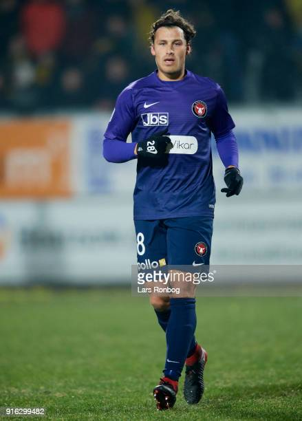 Erik Sviatchenko of FC Midtjylland in action during the Danish Alka Superliga match between AC Horsens and FC Midtjylland at CASA Arena Horsens on...