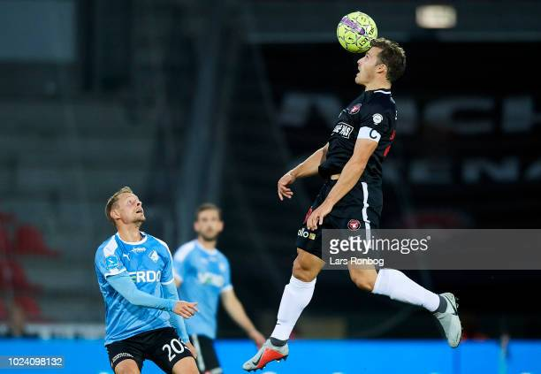 Erik Sviatchenko of FC Midtjylland in action during the Danish Superliga match between FC Midtjylland and Randers FC at MCH Arena on August 26 2018...