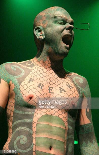 "Erik ""The Lizard Man"" Sprague during Disturbed in Concert at the House of Blues in Atlantic City - December 11, 2005 at The House of Blues at the..."