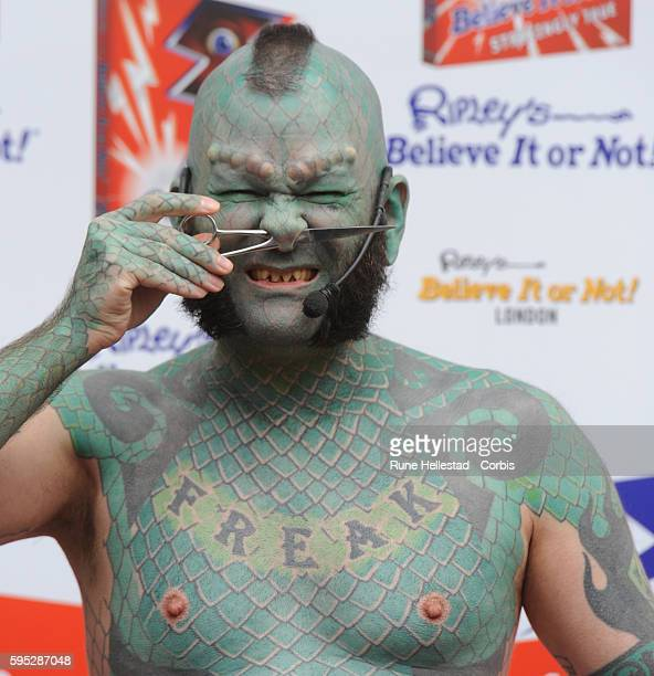 Erik The Lizardman attends a photo call at Ripley's Believe It Or Not
