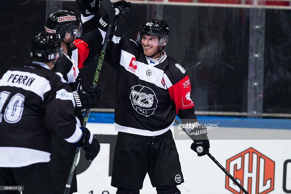 TPS Turku v Lorenskog IK - Champions Hockey League : News Photo