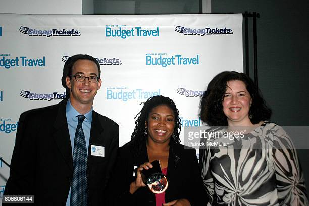 Erik Torkells Kim LewisCollins and Nancy Telliho attend Budget Travel Magazine Extra Mile Awards at The Modern on October 11 2007 in New York City