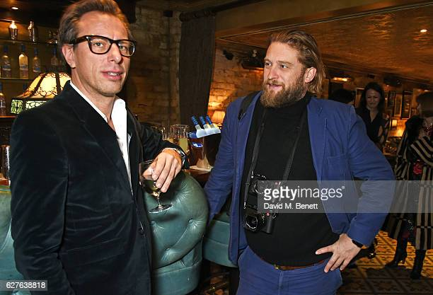 Erik Torstensson and Greg Williams attend The Fashion Awards in partnership with Swarovski nominees' lunch hosted by the British Fashion Council with...