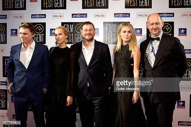 Erik Van Looy Isabel Lucas Bart De Pauw Rachel Taylor and Wim De Witte attends the Belgian world premiere of Loft at the 41 Ghent Film Festival on...