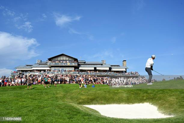 Erik Van Rooyen of South Africa chips on the 18th hole during the final round of the Scandinavian Invitation at Hills Golf & Sports Club on August...