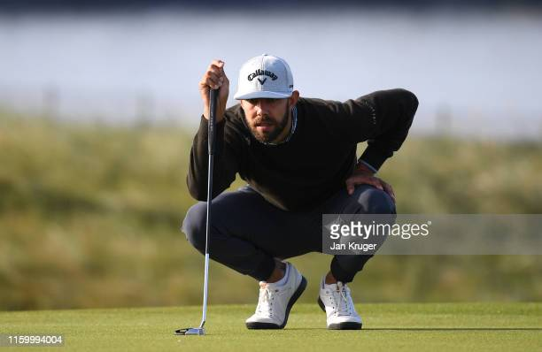 Erik van Rooyen of South Africa in action during the first round of the Dubai Duty Free Irish Open at Lahinch Golf Club on July 04 2019 in Lahinch...