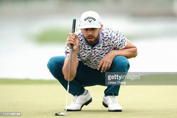 Erik Van Rooyen of South Africa looks on before plays a shot during the final round of the 2019 Volvo China Open at Genzon Golf Club on May 5 2019 in...