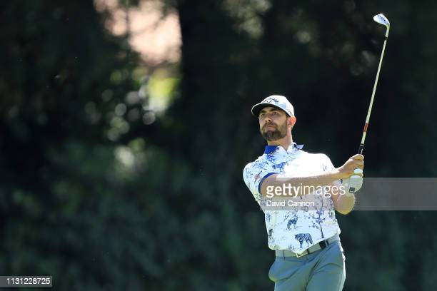 Erik van Rooyen of South Africa plays a shot on the 12th hole during the first round of World Golf ChampionshipsMexico Championship at Club de Golf...