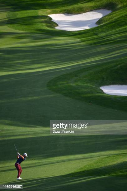 Erik Van Rooyen of South Africa plays a shot on the 17th hole during Day three of the Scandinavian Invitation at The Hills and Sports Club on August...