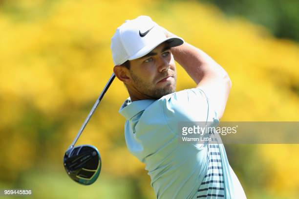 Erik Van Rooyen of South Africa plays his shot off the 9th tee during the first round of the Belgian Knockout at the Rinkven International Golf Club...