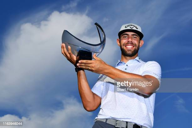 Erik Van Rooyen of South Africa poses with the trophy following his victory during the final round of the Scandinavian Invitation at Hills Golf &...