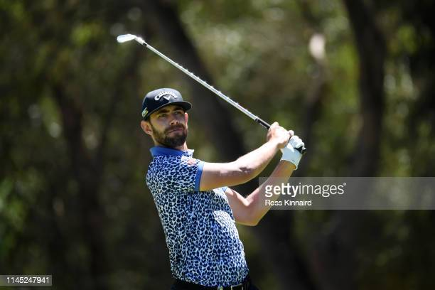 Erik van Rooyen of South Africa tees off on the 2nd hole during Day Two of the Trophee Hassan II at Royal Golf Dar EsSalam on April 26 2019 in Rabat...