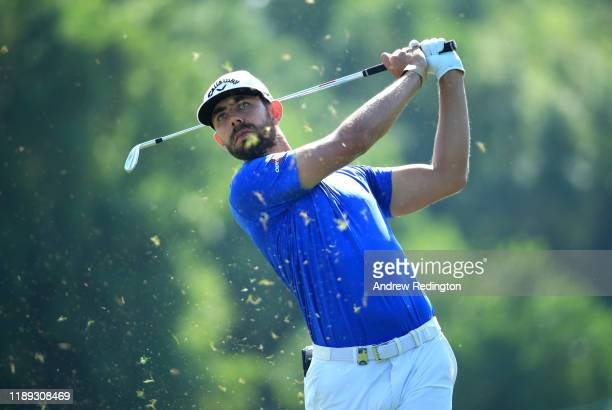 Erik Van Rooyen plays his second shot on the 3rd hole during Day Two of the DP World Tour Championship Dubai at Jumeirah Golf Estates on November 22,...