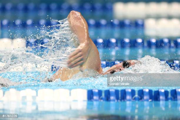 Erik Vendt competes in the prelimiaries of the 400 meter freestyle during the US Swimming Olympic Trials on June 29 2008 at the Qwest Center in Omaha...