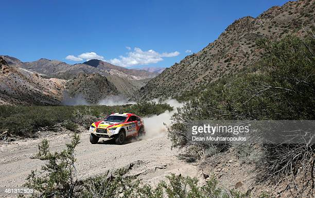 Erik Wevers of the Netherlands and Fabian Lurquin of Belgium for HRX Riwald Dakar Team Powered by Wevers Sport competes on Day 3 of the Dakar Rally...