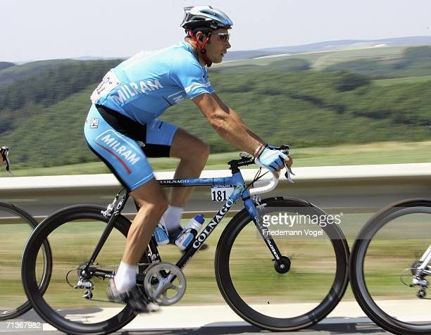 Erik Zabel of Germany and Milram Team in action during Stage 3 of the 93rd Tour de France between Esch-sur-Alzette and Valkenburg on July 4, 2006 in...
