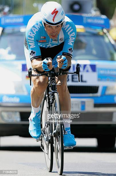 Erik Zabel of Germany and the Milram Team in action during the prologue of the 93st Tour de France on July 1, 2006 in Strasbourg, France.