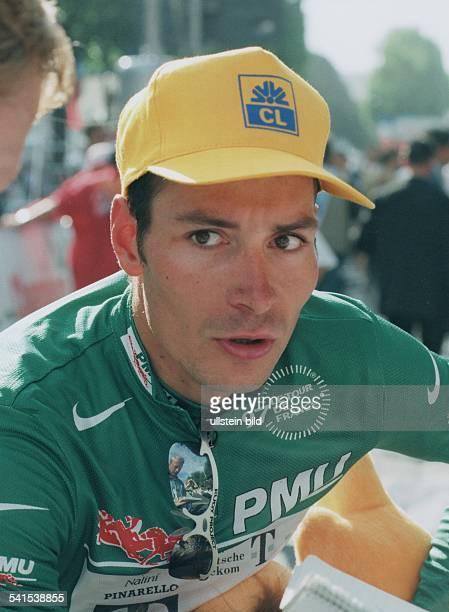 Erik Zabel, Sportler, Radsport, D - Team Deutsche Telekom- Portrait im Grünen Trikot als bester Sprinter bei der Tour de France