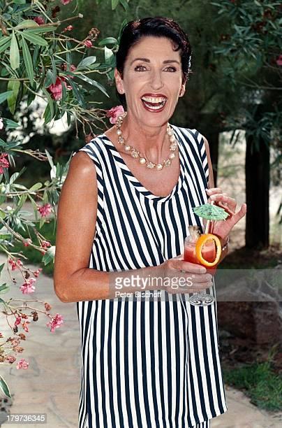 Erika Berger Ibiza 1997 UrlaubCocktailGetränk Spanien RTL ShowHeimliche Lust auf Ekstase