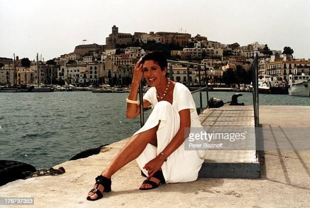 """Erika Berger, Ibiza 1997, Yacht-Hafen,;Spanien, RTL-Show """"Heimliche Lust auf;Ekstase"""","""