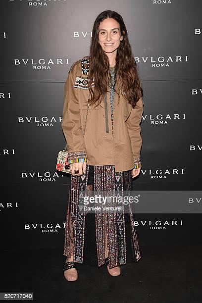 Erika Boldrin attends BVLGARI Celebration of BZero1 At Milan Design Week at Hotel Bulgari on April 12 2016 in Milan Italy