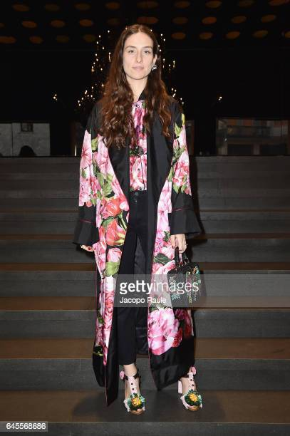 Erika Boldrin attends the Dolce Gabbana show during Milan Fashion Week Fall/Winter 2017/18 on February 26 2017 in Milan Italy