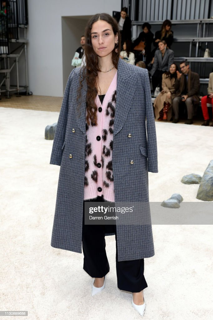 Erika Boldrin attends the JW Anderson show during London Fashion