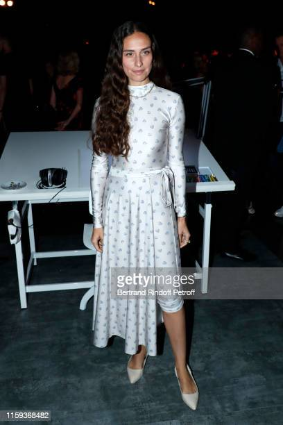 Erika Boldrin attends the Schiaparelli Haute Couture Fall/Winter 2019 2020 show as part of Paris Fashion Week on July 01 2019 in Paris France