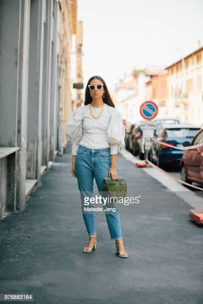 Erika Boldrin during Milan Men's Fashion Week Spring/Summer 2019 on June 16 2018 in Milan Italy