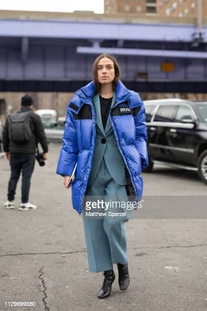 Erika Boldrin is seen on the street during New York Fashion Week AW19 wearing BOSS on February 13 2019 in New York City