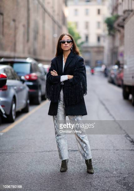 Erika Boldrin is seen outside Max Mara during Milan Fashion Week Spring/Summer 2019 on September 20 2018 in Milan Italy