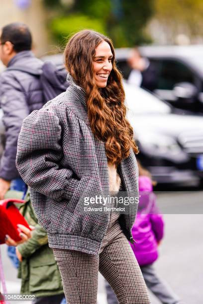Erika Boldrin is seen outside Miu Miu during Paris Fashion Week Womenswear Spring/Summer 2019 on October 2 2018 in Paris France