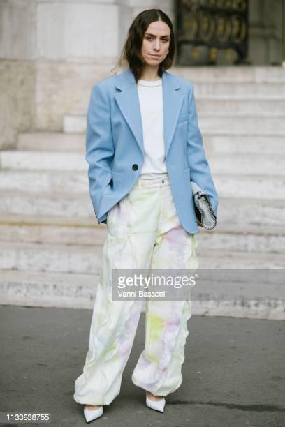 Erika Boldrin poses after the Stella McCartney show at the Palais Garnier during Paris Fashion Week Womenswear Fall Winter 2019/2020 on March 04 2019...