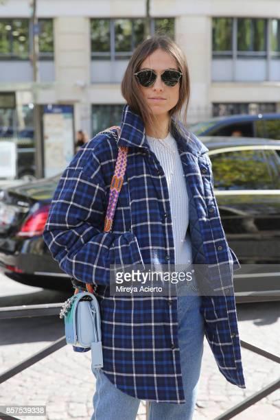 Erika Boldrin seen during Paris Fashion Week Womenswear Spring/Summer 2018 on October 3 2017 in Paris France