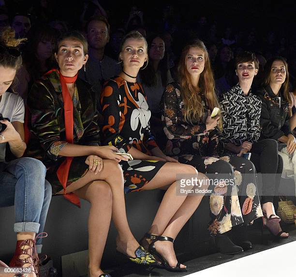 Erika Boldrin Tea Falco Lena Gercke and Paz Vega attend the Desigual Fashion Show during New York Fashion Week The Shows at The Arc Skylight at...