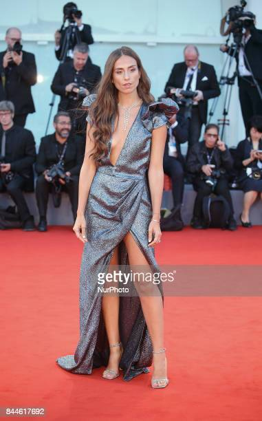 Erika Boldrin walks the red carpet ahead of the 'Racer And The Jailbird ' screening during the 74th Venice Film Festival on September 8 2017 at...