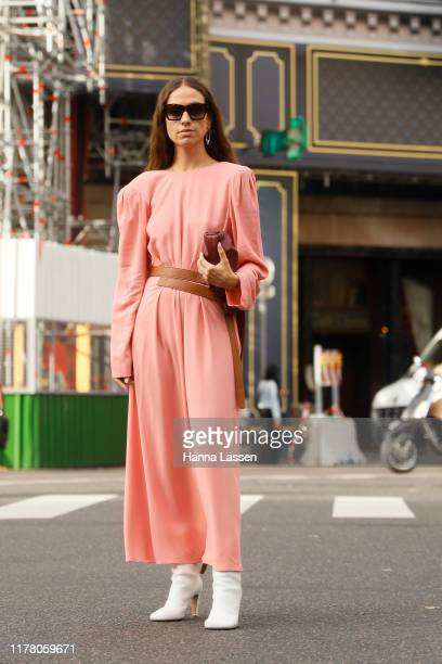 Erika Boldrin wearing Stella McCartney outside Stella McCartney during Paris Fashion Week Womenswear Spring Summer 2020 on September 30 2019 in Paris...
