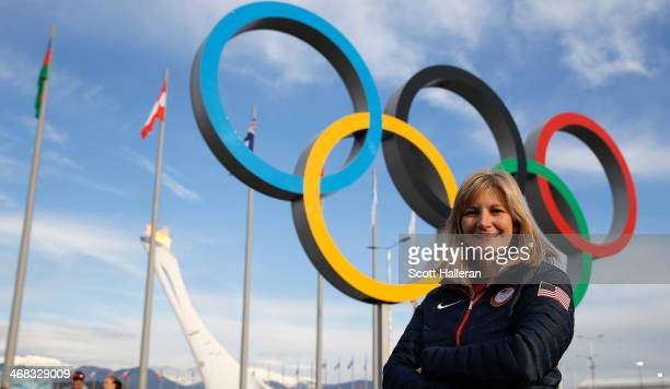Erika Brown of the USA Curling team poses in Olympic Park during the Sochi 2014 Winter Olympics on February 9 2014 in Sochi Russia